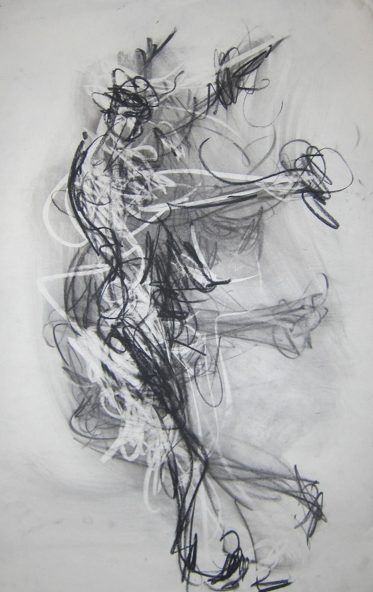 Dancer #28 37x23 charcoal on paper